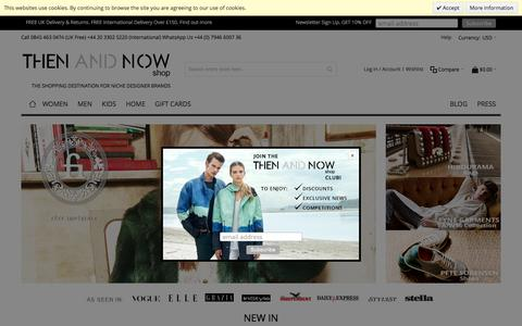 Screenshot of Home Page thenandnowshop.com - THEN AND NOW   Luxury Fashion Online Shop - captured Sept. 15, 2016