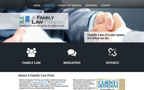 Screenshot of About Page theattorneys.com - Bret and Joann Campoy at Family Law Firm Sonoma County - captured Jan. 26, 2016