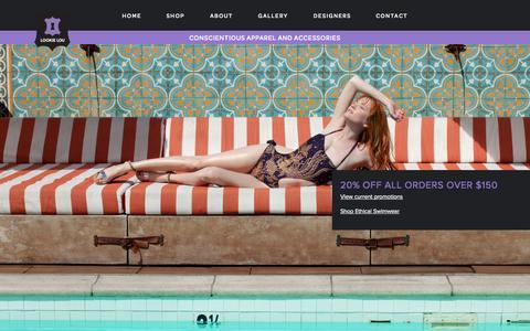 Screenshot of Home Page lookielou.com - Lookie Lou - captured Sept. 30, 2014