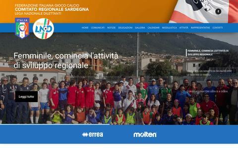 Screenshot of Home Page figc-sardegna.it - FIGC Sardegna | Comitato Regionale Sardegna - captured Nov. 17, 2015