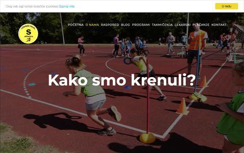 Screenshot of About Page esatletiks.rs - O NAMA - Atletski klub Sremski Karlovci - captured Oct. 4, 2018