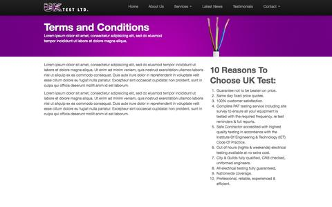Screenshot of Terms Page uktestltd.co.uk - Terms and Conditions | UK Test Ltd - captured Sept. 30, 2014