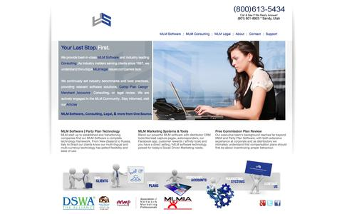Screenshot of Home Page Site Map Page yoursolutions.net - MLM Software : MLM Software Consulting : (800) 613-5434 : Network Marketing Software : Social Driven Marketing : Website Replication Software - captured Oct. 6, 2014