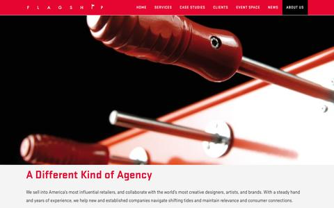 Screenshot of About Page flagship-agency.com - A Different Kind of Agency | Flagship Agency - captured Sept. 30, 2014