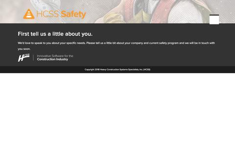 HCSS Safety | Demo Request