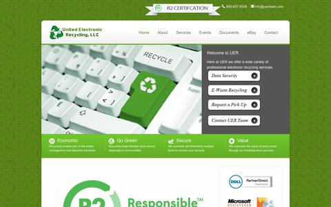 Screenshot of Home Page unitedelectronicrecycling.com - Professional Electronic Recycling Services - captured Feb. 23, 2016