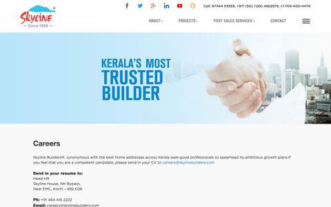 Screenshot of Jobs Page skylinebuilders.com - Careers - SkyLine - captured June 18, 2019