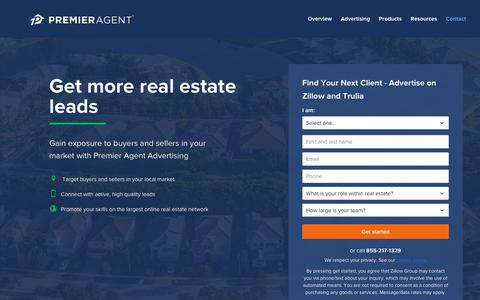 Screenshot of Contact Page zillow.com - Contact Us | Premier Agent - Zillow & Trulia - captured Nov. 18, 2017