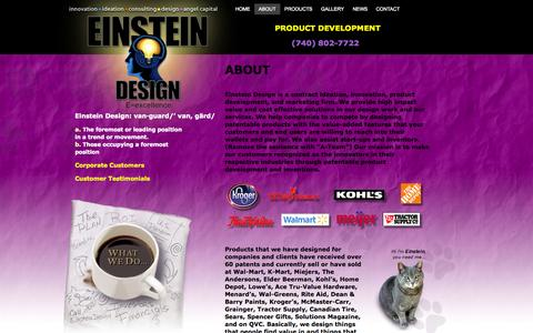 Screenshot of About Page einsteindesign.us - ABOUT | einsteindesign.us - captured Sept. 29, 2014