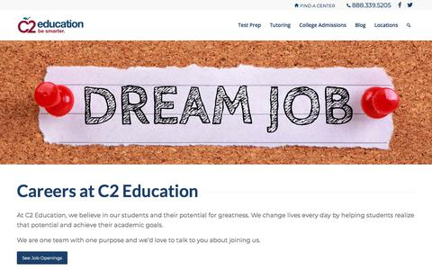 Screenshot of Jobs Page c2educate.com - Jobs | C2 Education - captured March 14, 2018