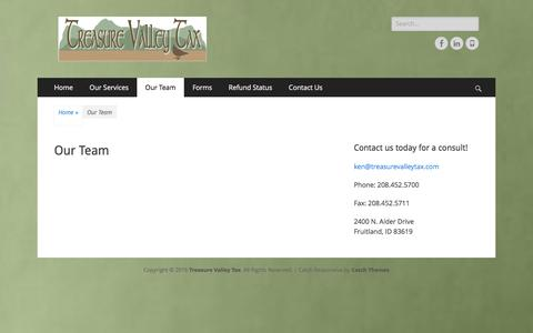 Screenshot of Team Page treasurevalleytax.com - Our Team – Treasure Valley Tax - captured Dec. 14, 2016