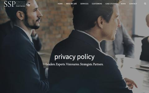 Screenshot of Privacy Page strategicsolutionpartners.com - Privacy Policy   Strategic Solution Partners - captured Sept. 9, 2017
