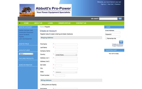 Screenshot of Signup Page netsolstores.com - Network Solutions E-Commerce Web Site - Register - captured Oct. 10, 2014