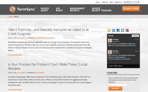 Screenshot of Blog termsync.com - Blog | TermSync - captured Sept. 13, 2014