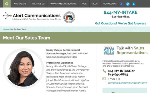 Meet Our Sales Team - Alert Communications