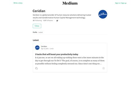 Ceridian – Medium