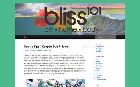 Screenshot of Blog bliss101.com - Bliss Blog   Just another WordPress site - captured Sept. 30, 2014