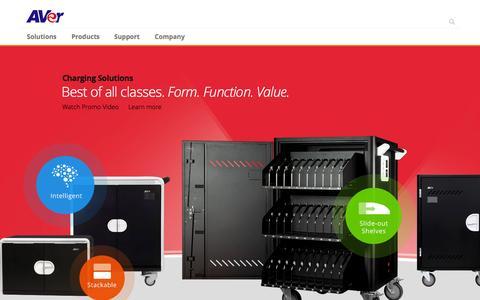 Screenshot of Home Page averusa.com - AVer USA - captured Nov. 3, 2015