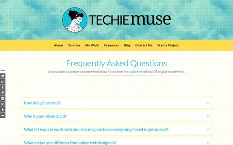 Screenshot of FAQ Page techiemuse.com - FAQ | Techie Muse - captured Aug. 23, 2016