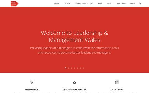 Screenshot of Home Page lmw.org.uk - The Leadership & Management self-learning platform - The HUB - captured July 28, 2017