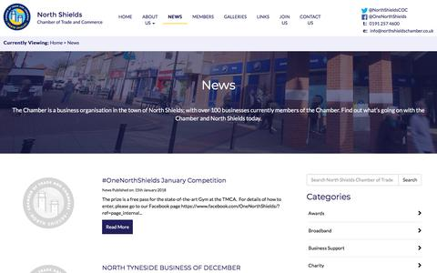 Screenshot of Press Page northshieldschamber.co.uk - News - North Shields Chamber of Trade and Commerce - captured Jan. 25, 2018