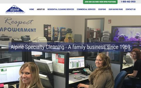 Screenshot of About Page alpineclean.com - About Us - Alpine Seattle Carpet Cleaning - captured Nov. 20, 2016