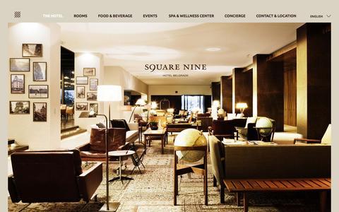 Screenshot of Press Page squarenine.rs - SQUARE NINE - Hotel Belgrade, member of the Leading Hotels of the World - captured Sept. 21, 2015