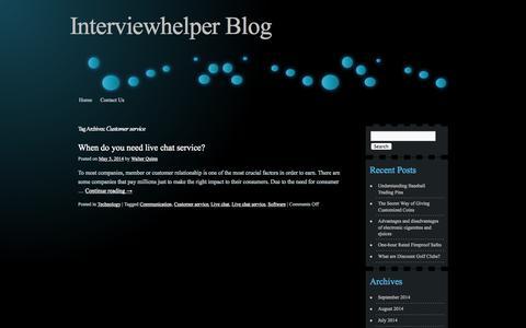 Screenshot of Support Page interviewhelper.org - Customer Service - captured Sept. 30, 2014