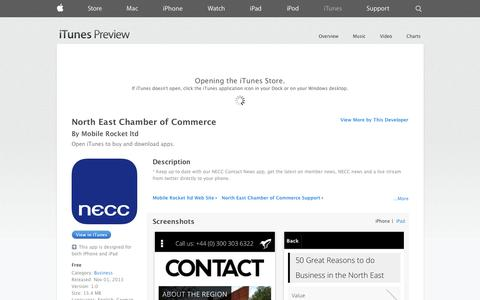 Screenshot of iOS App Page apple.com - North East Chamber of Commerce on the App Store on iTunes - captured Nov. 5, 2014