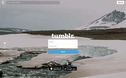 Screenshot of Login Page tumblr.com - Log in | Tumblr - captured Dec. 23, 2015