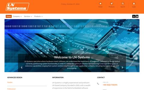 Screenshot of Home Page ln-systems.com - LN-Systems - captured Oct. 7, 2016