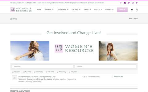 Screenshot of Signup Page womensresources.ca - Women's Resources - Join Us - captured Dec. 3, 2016