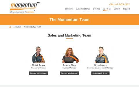 Screenshot of Team Page momentumsoftwaresolutions.com.au - The Momentum Team | Momentum Software Solutions - captured Nov. 19, 2018