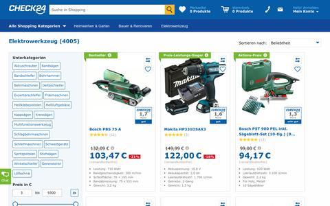 Elektrowerkzeug günstig im CHECK24-Preisvergleich