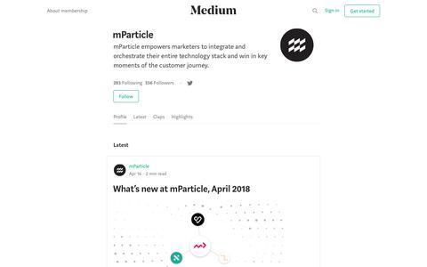 mParticle – Medium