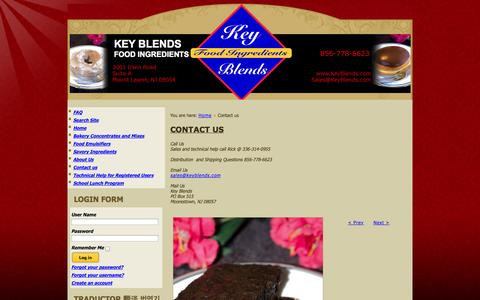 Screenshot of Contact Page keyblends.com - Contact us   Key Blends - captured Oct. 29, 2014