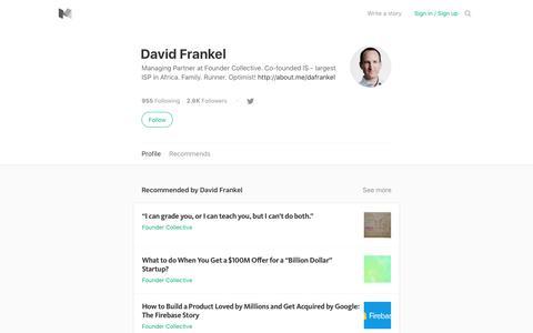 David Frankel – Medium