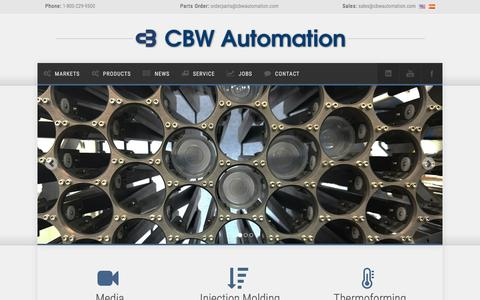Screenshot of Home Page cbwautomation.com - CBW Automation - The Future of Automation - captured May 11, 2017