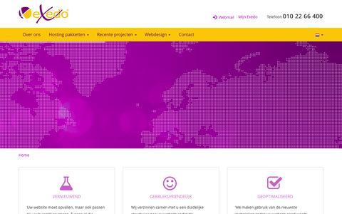 Screenshot of Home Page exedo.nl - Exedo - captured Sept. 30, 2014