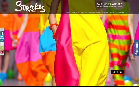 Screenshot of Home Page strokesevents.com - Dubai Events   Event Management Companies in Dubai, UAE - captured Feb. 25, 2016