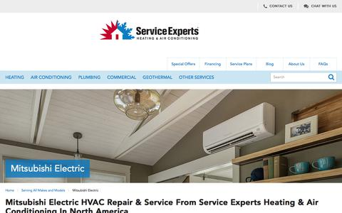 Mitsubishi Heating & Cooling Services in North America | Service Experts