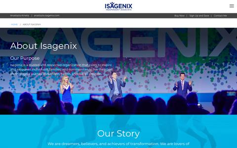 Screenshot of About Page isagenix.com - About Isagenix - US - captured Sept. 21, 2018