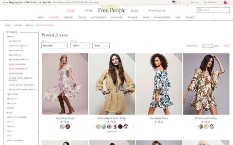 Shop Floral Dresses & Printed Dresses at Free People | Free People