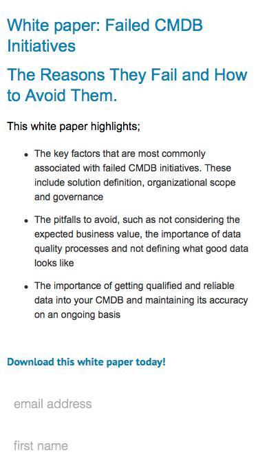Blazent | Failed CMDB Initiatives The Reasons They Fail and How to Avoid Them