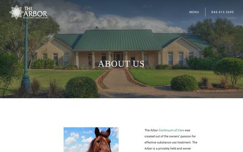 Screenshot of About Page thearbor.com - About Us | Arbor Behavioral Healthcare - captured July 20, 2019