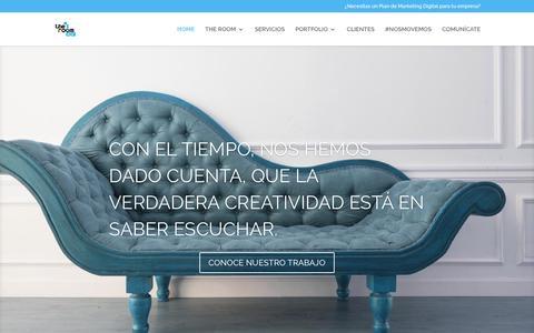Screenshot of Home Page theroomsocial.com - The Room Social - Agencia de Publicidad y Marketing Online - captured Dec. 22, 2016