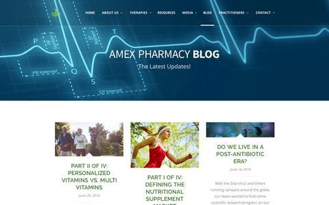 Screenshot of Blog amexpharmacy.com - Blog Standard SideBar – AMEX PHARMACY - captured July 25, 2016