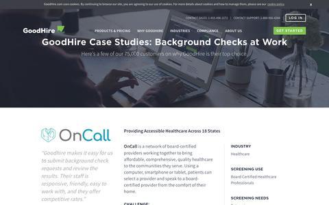Screenshot of Case Studies Page goodhire.com - GoodHire Case Studies   GoodHire - captured Sept. 19, 2018
