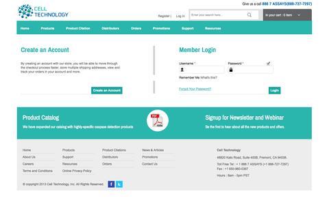 Screenshot of Login Page celltechnology.com - Customer Login - captured Oct. 2, 2014