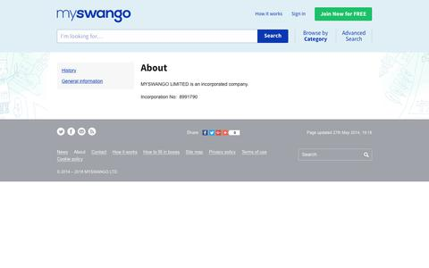 Screenshot of About Page myswango.com - About | myswango | Everyone has something to offer! - captured Sept. 21, 2018